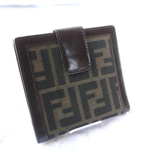 """FENDI """"Zucca"""" Folded Wallet"""