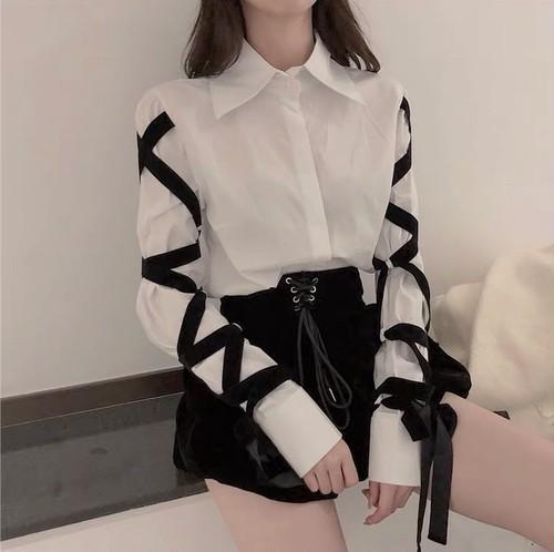 lace up blouse