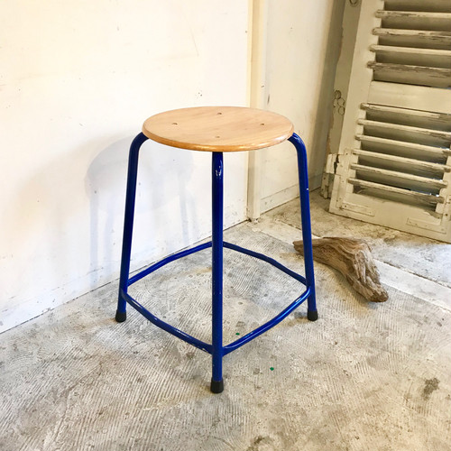 Blue Frame Industrial Stool オランダ