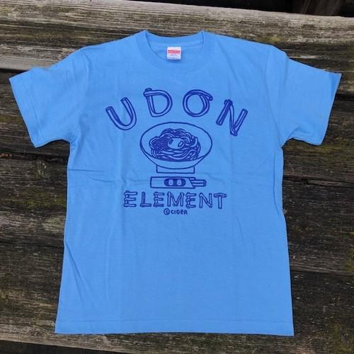 かせきさいだぁ UDON ELEMENT Tシャツ サックスブルー