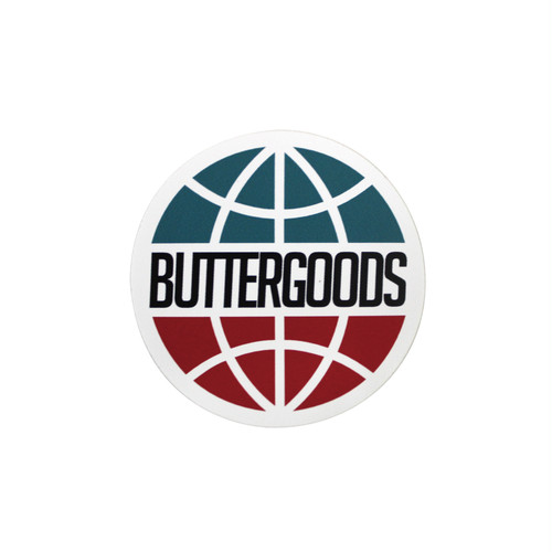 BUTTER GOODS WORLDWIDE LOGO STICKER WHITE