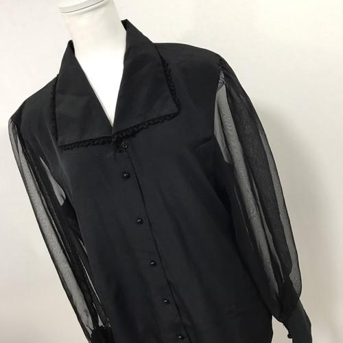 袖切替オーガンジーシャツ¥5200→¥3800