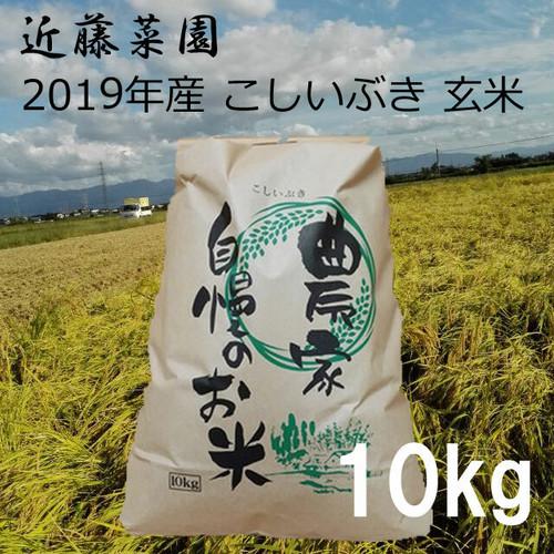 2020年 新潟県産 令和2年産 こしいぶき 玄米 10kg 近藤菜園