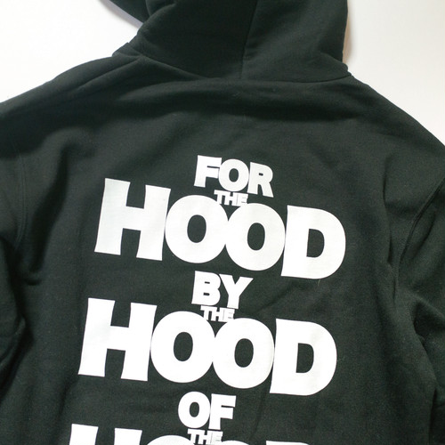 FOR THE HOOD BY THE HOOD OF THE HOOD PARKA - BLACK