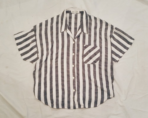OPEN COLLAR STRIPE SHIRT