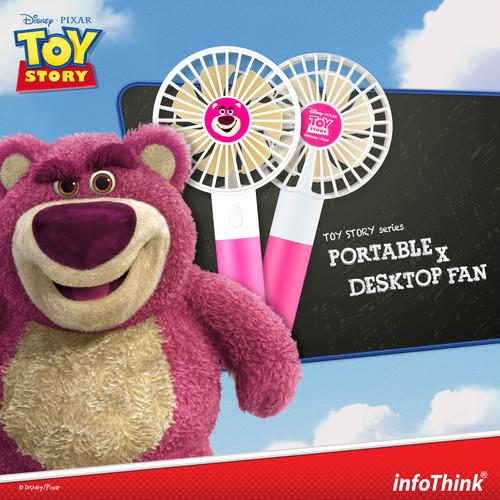 InfoThink ポータブル扇風機 Disney トイ・ストーリー4 USB充電 持ち運び 卓上扇風機 ロッツォ