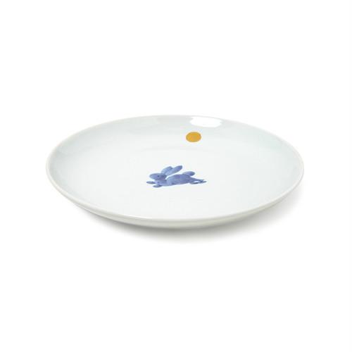 金彩月兎5.5寸丸皿