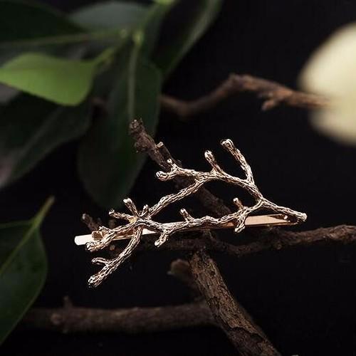 小枝のヘアピン ゴールド/シルバー ヘアアクセサリー プチプラ