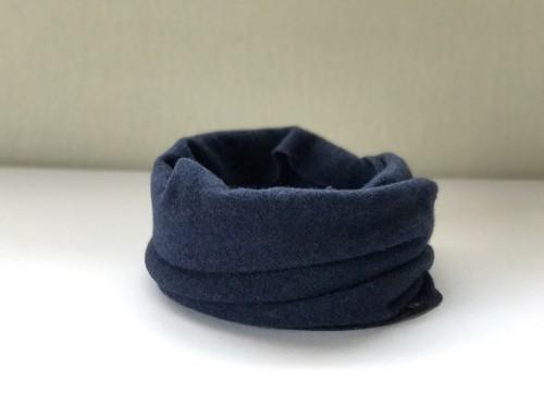 カシミヤスヌード【 Pure cashmere snood  Navy Blue 】