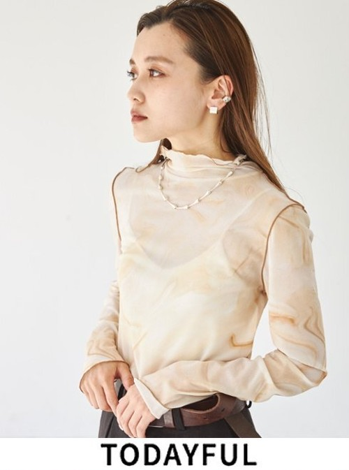 TODAYFUL (トゥデイフル) Marble Turtle Tops 21秋冬【12120605】カットソー