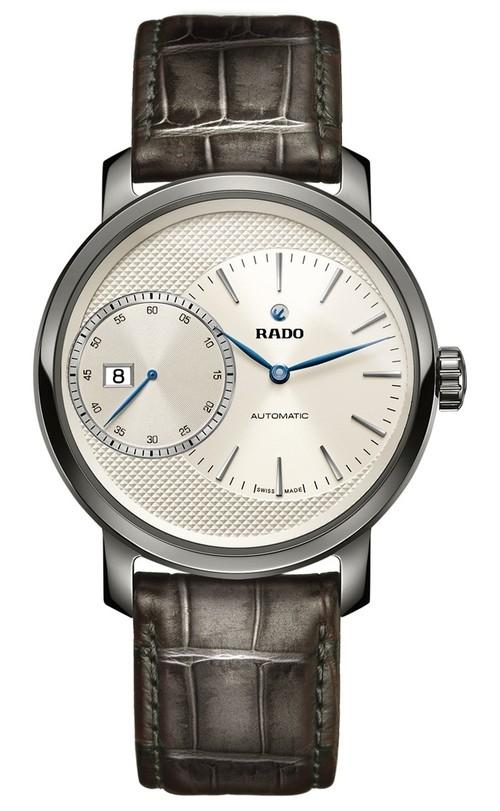 【RADO ラドー】ダイヤマスター オートマティック グランドセコンド/グレー スイスメイド腕時計