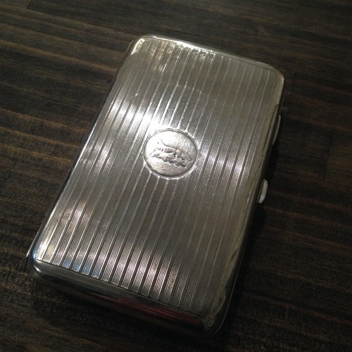 Antique UK Sterling Silver Cigar Case