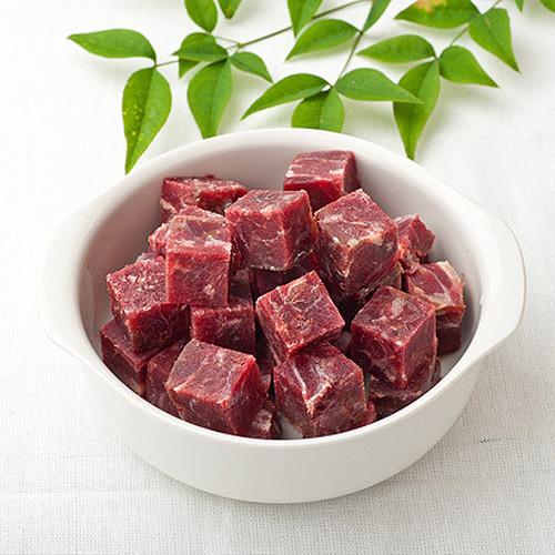 生馬肉パーフェクト -角切り冷凍(1kg)