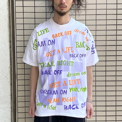 90's 'BACK OFF' TEE