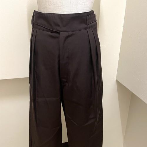 【RehersalL】twill gurkha pants (d,brown)/【リハーズオール】ツイルグルカパンツ(ダークブラウン)