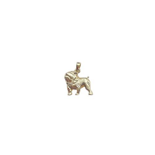 【14K-3-7】14K real gold Bulldog charm