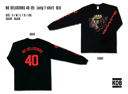 NO DELUSIONS 40 (R) Long T-shirt BLK