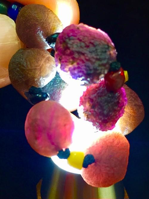 5) 紫ゴビアゲート「卑弥呼」アート・ネックレス