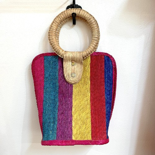 vintage マルチストライプ summer bag