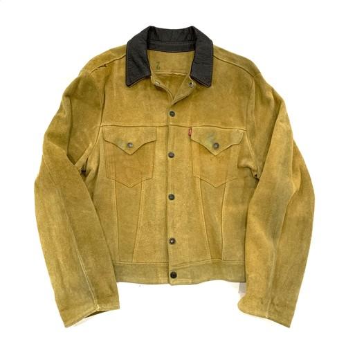 1950s LEVI'S SHORT HORN 3rd suede jacket