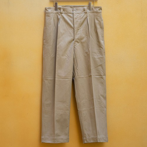 OLD FRENCH ARMY CHINO PANTS DEAD STOCK - 4