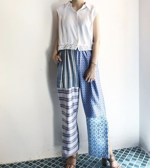 CaNARi original remake patchwork pants
