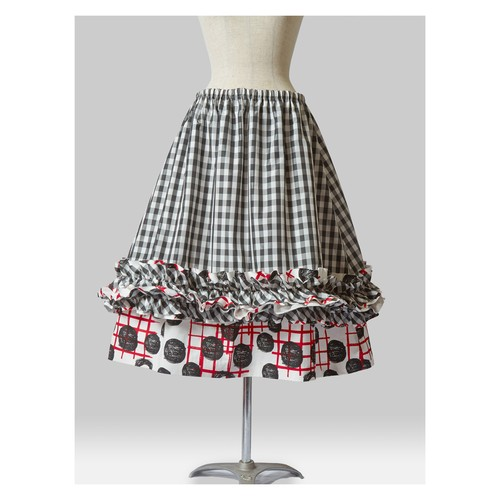 Layered Check Skirt C