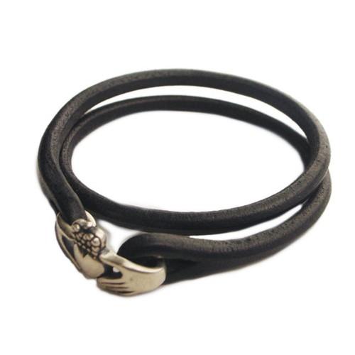 Claddagh Brace Silver | クラダブレス 2重巻きブレス チョーカー (Cramp × Lilac クランプ ライラック)