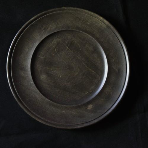 北山栄太 Eita Kitayama  メイプルリムプレート 7寸 (草木染+鉄焙煎)