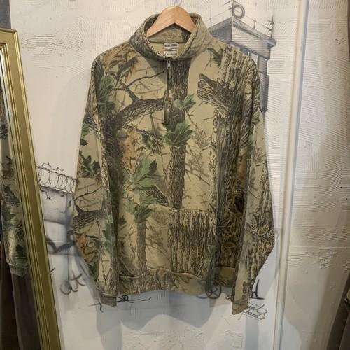 real tree camouflage half zip  sweat