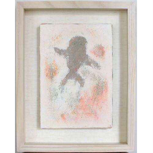「アフリカの踊り」 キャンバスにアクリル * 絵画 抽象画 現代アート コンテンポラリーアート イラスト 額縁 内野隆文 takafumiuchino