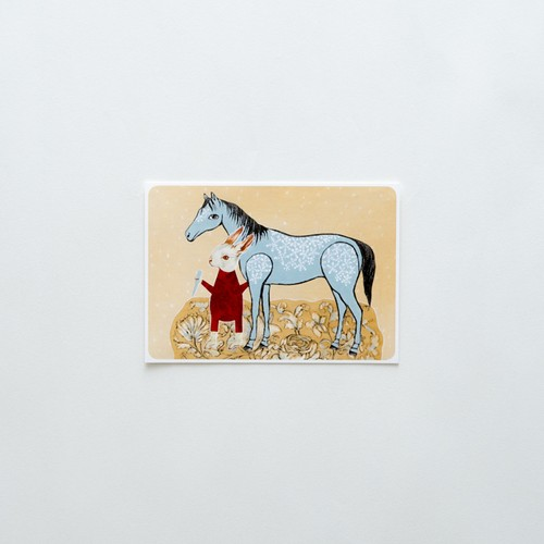 Icicles are snow horse's treats postcard