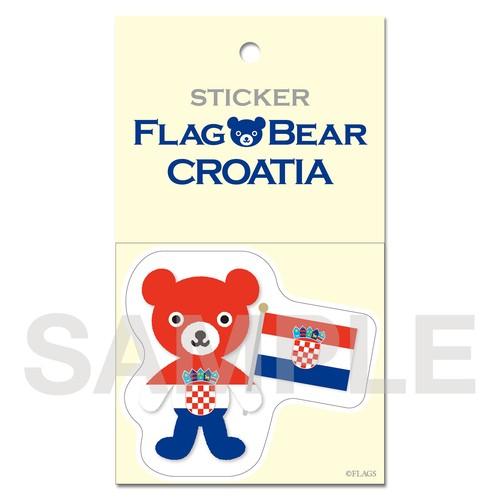 FLAG BEAR STICKER <CROATIA> クロアチア (大(L))