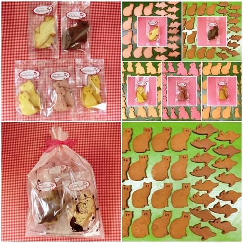 ネコのクッキー5種類詰め合わせ♪(=^・^=)