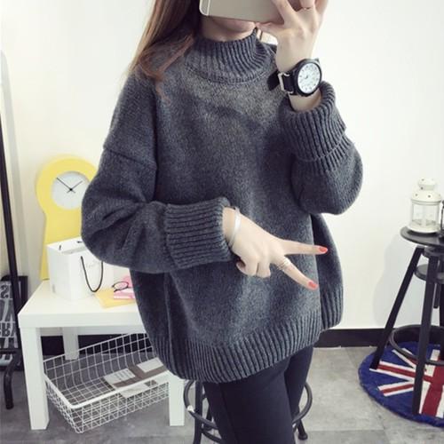 ✩即納商品✩【トップス】シンプルカジュアル定番無地多色選べニットセーター