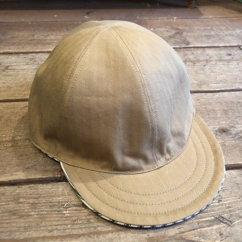 限定入荷!Reversible Cap, Herringbone Khaki Cotton x Hickory Made in Japan