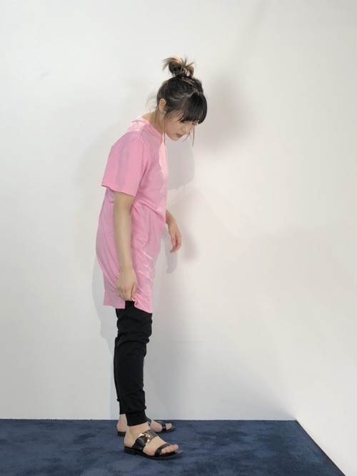 【20AW】bassike ベイシーク/ Cotton pink T-shirt