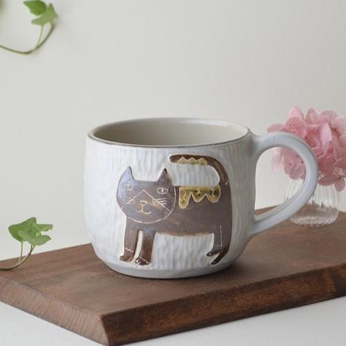 【直販限定】ハチワレネコの手彫りレリーフマグカップ 3
