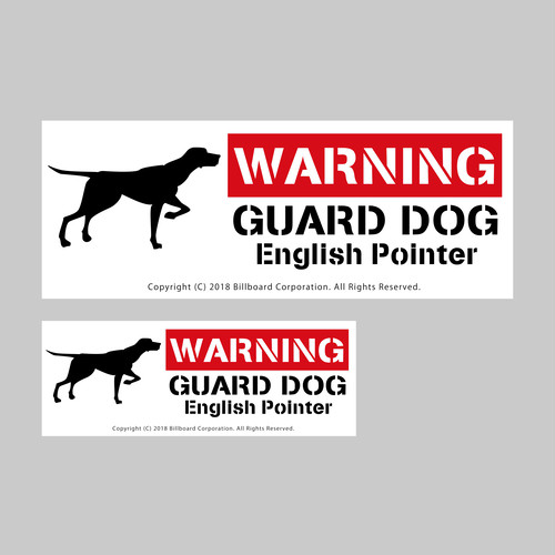 GUARD DOG Sticker [EnglishPointer]