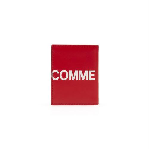 WALLET COMME des GARCONS【ウォレットコムデギャルソン】HUGE LOGO CARD CASE (RED)