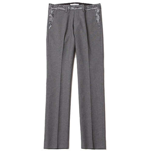 HOPSACK TROUSERS – PAISLEY (GRAY) / RUDE GALLERY