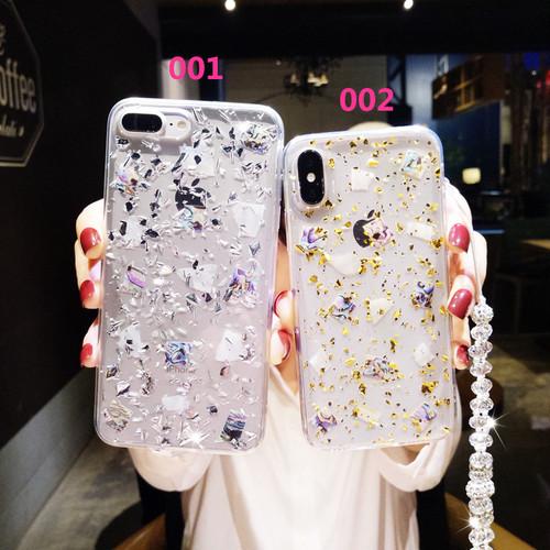 オリジナル キラキラ クリア iPhone8 Plusケース オシャレ アイフォン6sPlus携帯カバー レディース向け キレイなストラップ付き