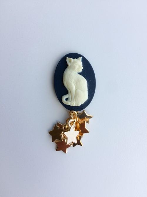 sitting cat pierce/earring
