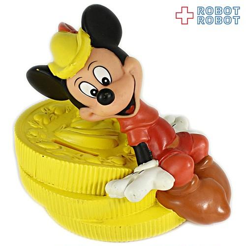 ミッキーマウス コイン ソフビ貯金箱