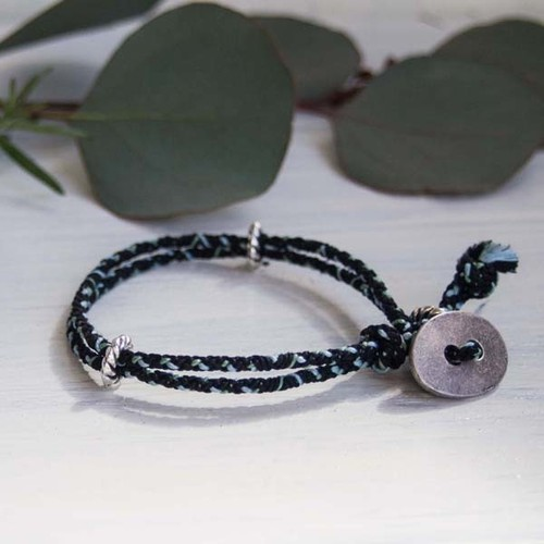 men's&ladie's bracelet ■shara (black)