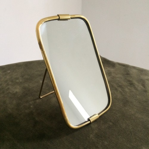 brass tube stand and wall mirror small