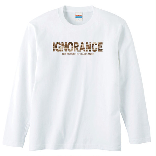 IGNORANCE LOGO(CAMOUFLAGE) LONG SLEEVE【WHITE】