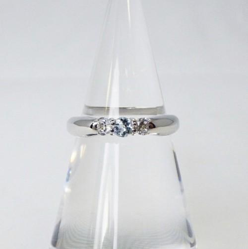 ❤︎天然アクアマリン&ダイヤモンド リング❤︎指輪 パワーストーン