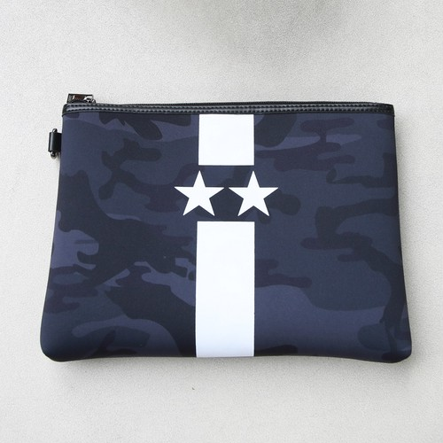 Black Starline white camouflage clutch