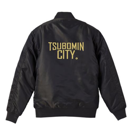 TSUBOMIN / TSUBOMIN CITY MA-1 JACKET BLACK x GOLD